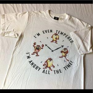 VTG 90s 1995 Warner bros Tasmanian devil t shirt